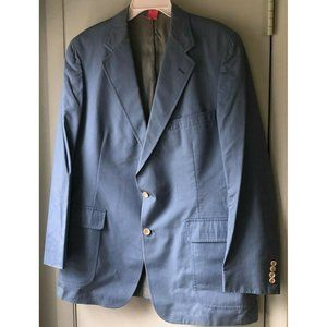 VTG Chaps Ralph Lauren Blue Chambray Sport Coat